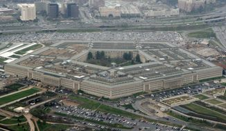This March 27, 2008, file photo shows the Pentagon in Washington. The Associated Press has learned that leaders of the military services have expressed reservations to Defense Secretary Lloyd Austin about removing sexual assault cases from the chain of command. (AP Photo/Charles Dharapak, File)
