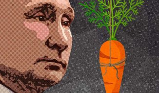 Carrot on a Stick for Putin Illustration by Greg Groesch/The Washington Times