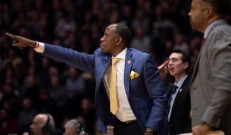 Former Maryland basketball assistant coach Bino Ranson points during a game. (Courtesy of Maryland athletics)