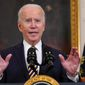 President Biden continues to evade the classic solo press conference, prompting some media analysts to wonder why. (Associated Press)