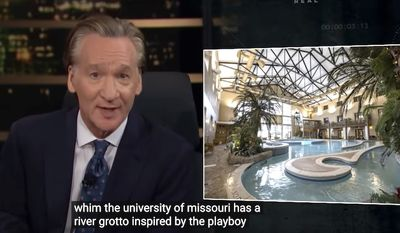 """HBO """"Real Time"""" host Bill Maher blasts a higher education """"grift"""" that produces ignorant graduates who spent more time in Playboy-like """"grottoes"""" than the library, June 4, 2021. (Image: YouTube, HBO, """"Real Time with Bill Maher"""" video screenshot)"""