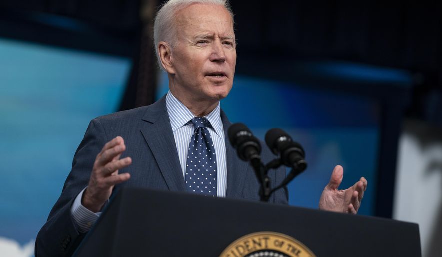 President Joe Biden speaks about the COVID-19 vaccination program, in the South Court Auditorium on the White House campus, Wednesday, June 2, 2021, in Washington. (AP Photo/Evan Vucci)