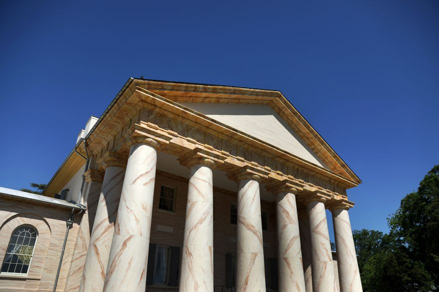 Arlington House, The Robert E. Lee Memorial, reopens after a 30-month, $12.3 million rehabilitation. (Image courtesy of National Park Service)