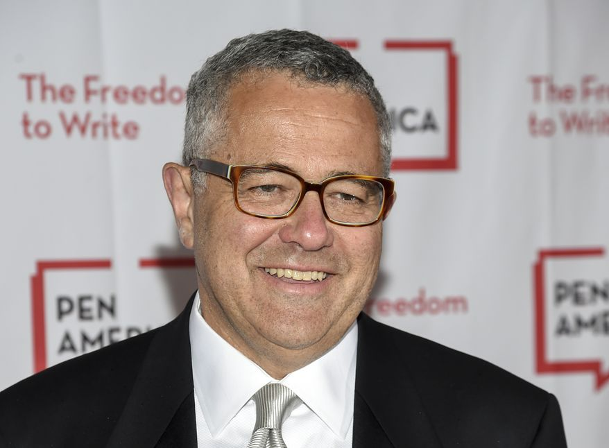 """FILE - Jeffrey Toobin attends the PEN Literary Gala on May 22, 2018, in New York. The CNN legal analyst returned to the network Thursday, June 10, 2021, for the first time in more than seven months after he was caught masturbating on a Zoom call with former colleagues at The New Yorker. Toobin, in an interview with CNN's Alisyn Camerota, said that he was grateful to CNN for another chance and that he was """"trying to become the kind of person that people can trust again."""" (Photo by Evan Agostini/Invision/AP, File)"""