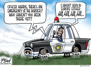Officer Harris, there's an emergency at the border!