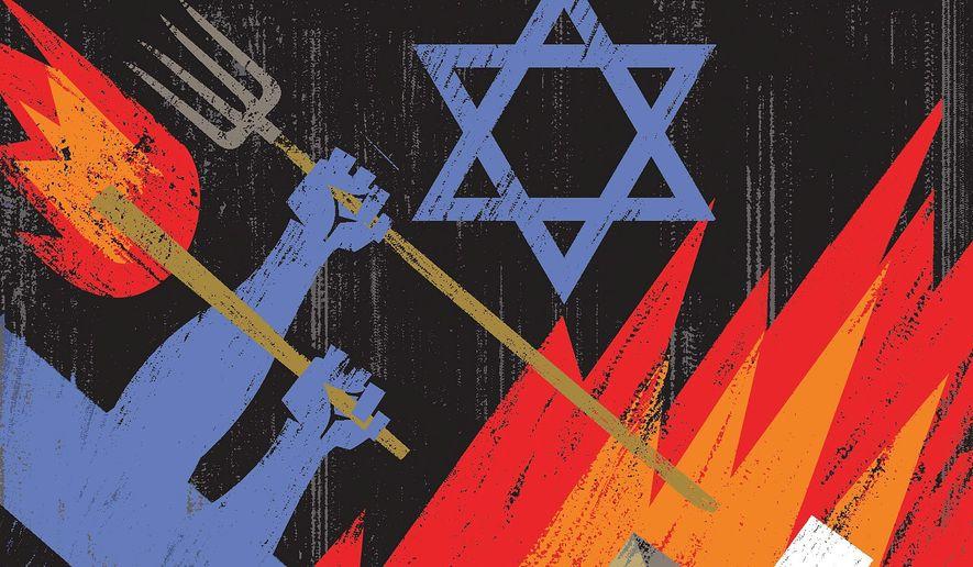Illustration on Israel's removal of Bibi Netanyahu by Linas Garsys/The Washington Times