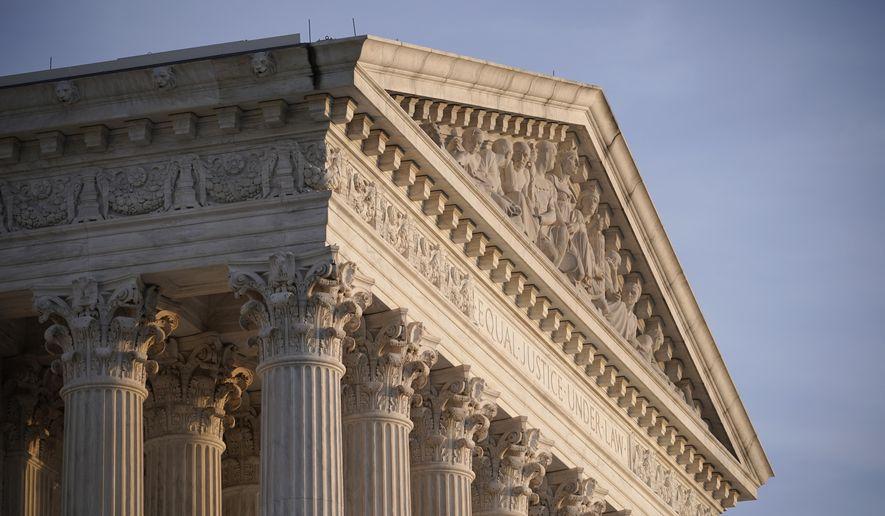 n this Nov. 5, 2020, file photo, the Supreme Court is seen in Washington. (AP Photo/J. Scott Applewhite, File)