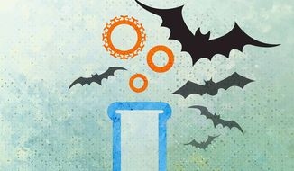 Wuhan Lab Bats and Believing in Science Illustration by Greg Groesch/The Washington Times