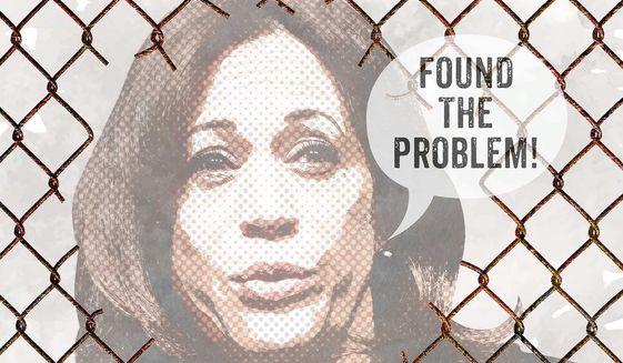 Kamala Harris' Border Solution Illustration by Greg Groesch/The Washington Times