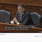 """In this file photo, Rep. Jim Banks discusses Critical Race Theory reading lists that are recommended to members of the U.S. Navy, June 6, 2021. The Indiana Republican also addressed CRT at CPAC in Dallas on July 10, 2021, calling them a """"direct attack on America and our values."""" (Image: YouTube, Rep. Jim Banks, video screenshot)"""