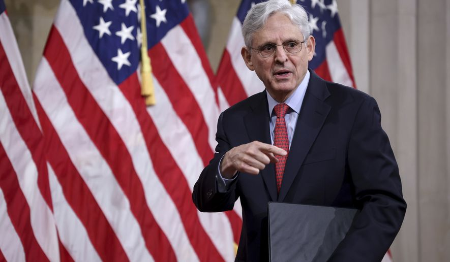 In this Tuesday, June 15, 2021, file photo, Attorney General Merrick Garland departs after speaking at the Justice Department in Washington. The U.S. government has put an end to two Trump administration policies that made it harder for immigrants fleeing violence to qualify for asylum. Attorney General Merrick Garland said Wednesday, June 16, 2021, that immigration judges should no longer follow the rules that made it difficult for immigrants who faced domestic or gang violence to win asylum. (Win McNamee/Pool Photo via AP, File)