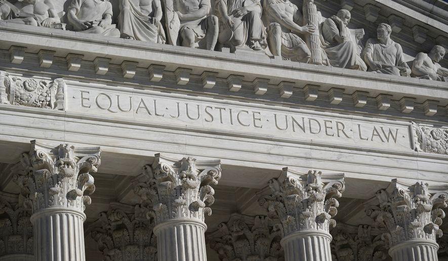 In this Nov. 4, 2020 file, photo, the Supreme Court is seen in Washington. (AP Photo/J. Scott Applewhite)