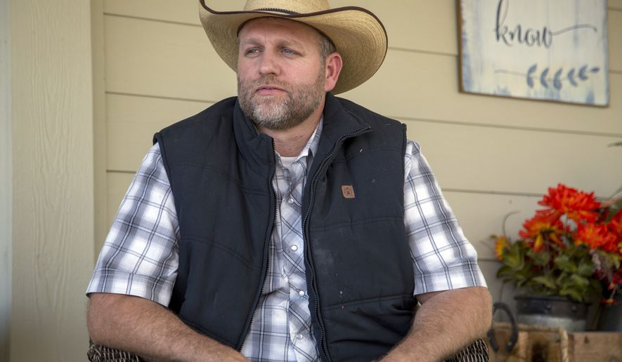 Ammon Bundy poses for a photo in Emmett, Idaho. On Saturday, June 19, 2021, anti-government activist Bundy came out with his first video announcing his campaign to become governor of Idaho. (Kelsey Grey/Idaho Statesman via AP)