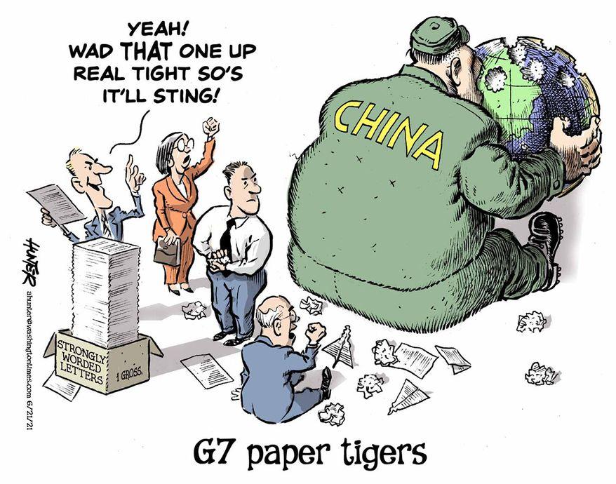 Illustration by Alexander Hunter for The Washington Times (published June 21, 2021)