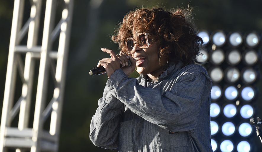 Macy Gray performs during Rock 'N' Relief on Saturday, March, 6, 2021, in Los Angeles. (Richard Shotwell/Invision/AP)
