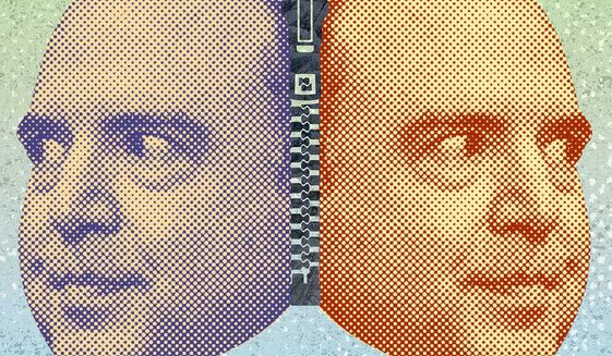 Adam Schiff Two-Face Subpoena Illustration by Greg Groesch/The Washington Times