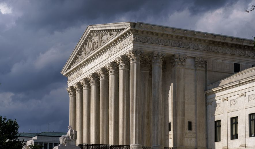 This June 8, 2021, photo shows the Supreme Court in Washington. (AP Photo/J. Scott Applewhite, File)