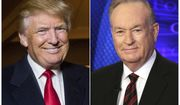 """This combination photo shows Donald Trump and former Fox News host Bill O'Reilly, compiled in 2015 to announce  Mr. O'Reilly's book """"The United States of Trump: How the President Really Sees America."""" The pair will join up for a four-city tour in December. (AP PHOTO)"""