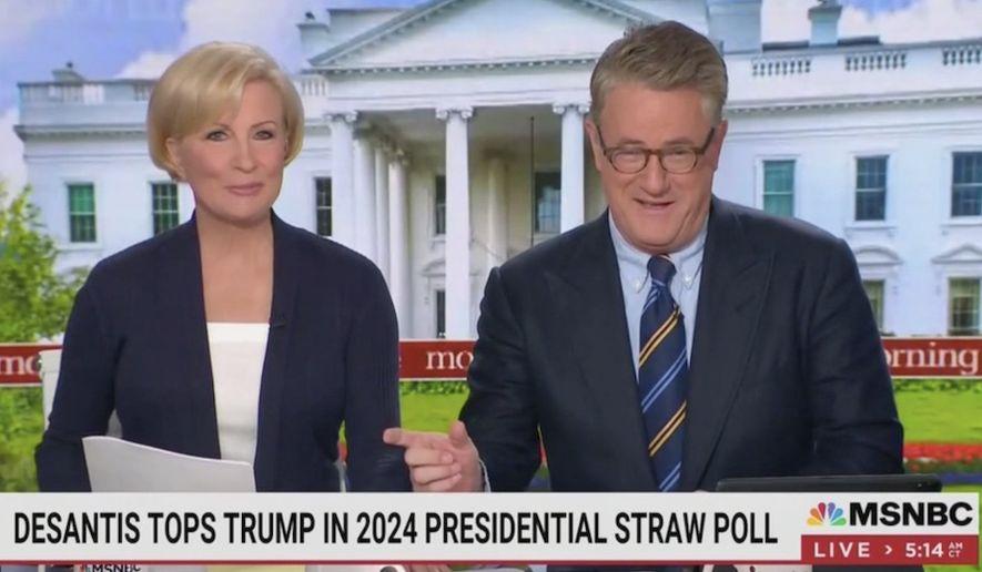 "MSNBC's Joe Scarborough likened Florida Gov. Ron DeSantis to ""political methadone,"" June 22, 2021. (Image: MSNBC, ""Morning Joe"" video screenshot)"