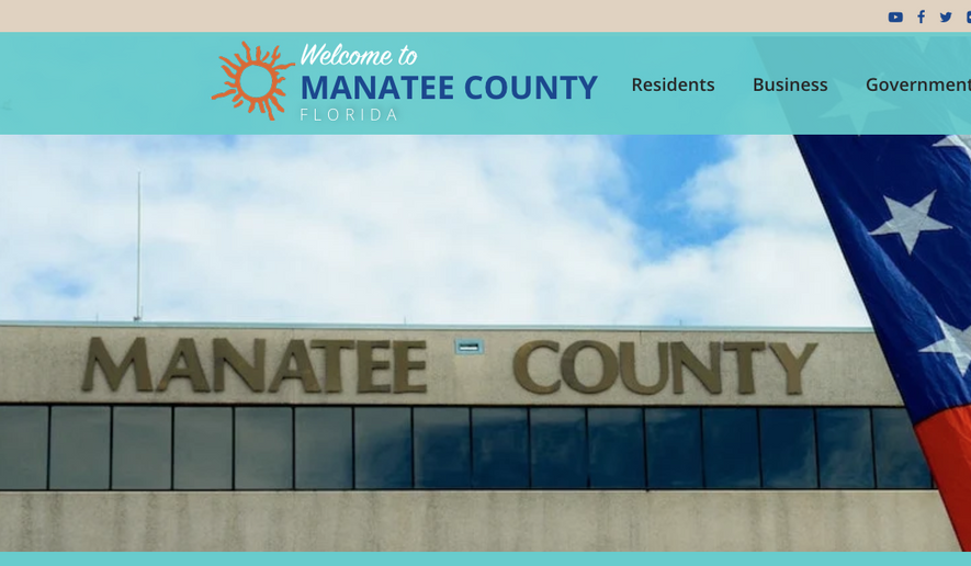 Screen capture taken June 22, 2021, from the website for Manatee County (Fla.) government. (www.mymanatee.org)