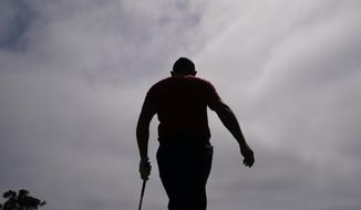 Louis Oosthuizen, of South Africa, gets ready for his tee shot during the third round of the U.S. Open Golf Championship, Saturday, June 19, 2021, at Torrey Pines Golf Course in San Diego. (AP Photo/Jae C. Hong) **FILE**