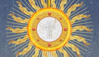 Blessed Sacrament and Holy Communion Illustration by Greg Groesch/The Washington Times