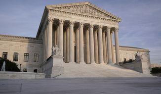 In this Nov. 5, 2020 file photo, The Supreme Court is seen in Washington. (AP Photo/J. Scott Applewhite/File)