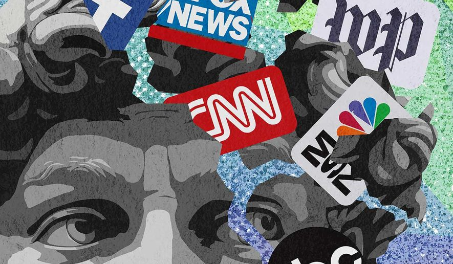 Left embracing fake news and disinformation Illustration by Greg Groesch/The Washington Times