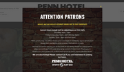 Shown here is a screen capture from The Penn Hotel Sports & Raw Bar's website. The owner of the establishment took the Biden administration to court, alleging improper discrimination in the way it administered COVID relief funds. (https://www.thepennhotel.com/)