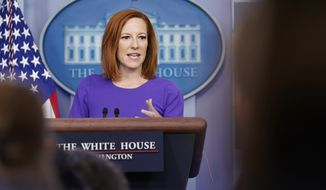 White House press secretary Jen Psaki speaks during the daily briefing at the White House in Washington, Friday, June 25, 2021. (AP Photo/Susan Walsh)