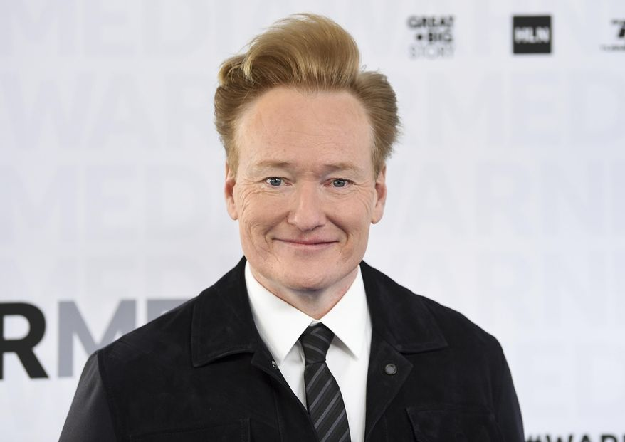 """This May 15, 2019, file photo shows talk show host Conan O'Brien attending the WarnerMedia Upfront at Madison Square Garden in New York. O'Brien ended his nearly 11-year run on TBS, Thursday, June 24, 2021, with the final episode of the late-night show """"Conan."""" (Photo by Evan Agostini/Invision/AP, File)"""
