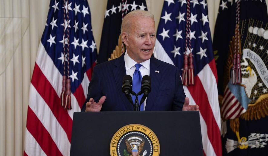 In this June 25, 2021 file photo, President Joe Biden speaks during an event to commemorate Pride Month, in the East Room of the White House in Washington.  New leaders of the American and Israeli governments are resetting their countries' relationship after years of divisiveness. (AP Photo/Evan Vucci, File)
