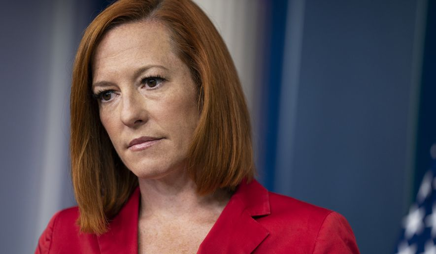 White House press secretary Jen Psaki listens to a question during a press briefing at the White House, Monday, June 28, 2021, in Washington. (AP Photo/Evan Vucci)