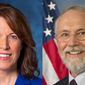 U.S. Reps. Cindy Axne and Dan Newhouse