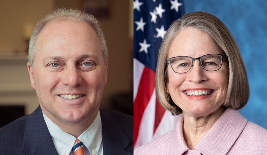 Whip Steve Scalise and U.S. Rep. Mariannette Miller-Meeks, M.D.