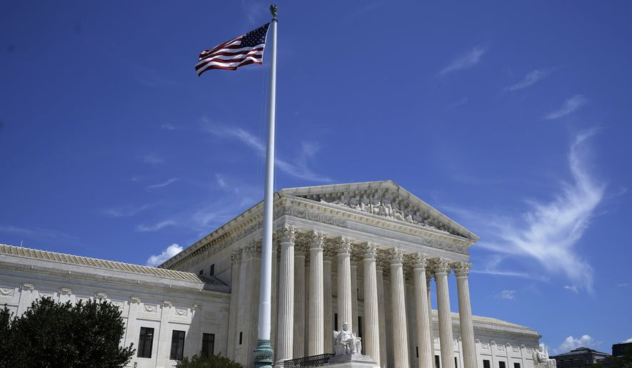 The U.S. Supreme Court is seen on Capitol Hill in Washington, Tuesday, June 29, 2021. (AP Photo/Jose Luis Magana)