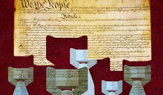 Unconstitutional Bombing by Presidents Illustration by Greg Groesch/The Washington Times