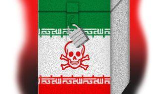 Illustration on the election of Iranian President Ebrahim Raisi by Alexander Hunter/The Washington Times