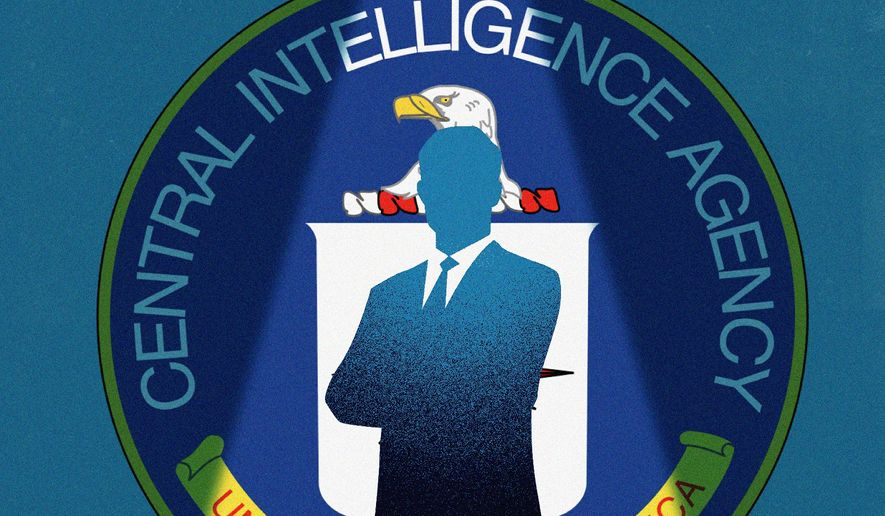 Illustration of the CIA by Linas Garsys/The Washington Times
