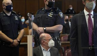 The Trump Organization's Chief Financial Officer Allen Weisselberg appears in court in New York, Thursday, July 1, 2021. Weisselberg was arraigned a day after a grand jury returned an indictment charging him and Trump's company with tax crimes. Trump himself was not charged.  (AP Photo/Seth Wenig,Pool)