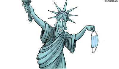 Independence Day 2021 (Illustration by Gary Varvel for Creators Syndicate)
