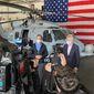 Ambassador Pyatt with Prime Minister Kyriakos Mitsotakis at USS Eisenhower (State Department Photo)