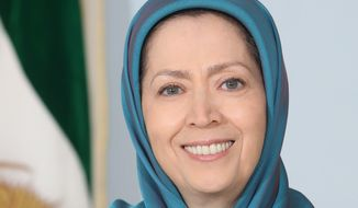 Maryam Rajav, acting president of the National Council of Resistance of Iran. (Photo courtesy of Siavosh Hossein, The Media Express)