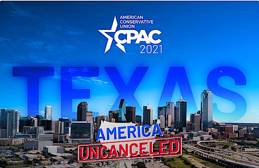 """The American Conservative Union is staging a second CPAC event of the year in Texas, keeping with their mission to push back on those who """"cancel"""" conservative values and thinking. (Image courtesy of American Conservative Union.)"""