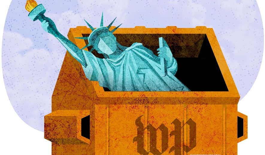 Illustration on American whining and ingratitude by Greg Groesch/The Washington Times