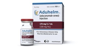 FILE - This image provided by Biogen on Monday, June 7, 2021 shows a vial and packaging for the drug Aduhelm. On Friday, July 9, 2021, the acting head of the U.S. Food and Drug Administration called for a government investigation into highly unusual contacts between some of her agency's drug reviewers and the maker of the controversial new Alzheimer's drug. (Biogen via AP, File)