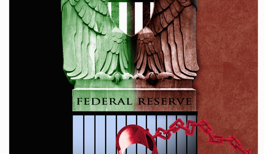 Illustration on the Federal Reserve and SEC by Alexander Hunter/The Washington Times