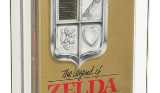 This photo provided by Heritage Auctions shows Nintendos The Legend of Zelda. An unopened copy of Nintendos The Legend of Zelda that was made in 1987 has sold at auction for $870,000. Heritage Auctions in Dallas says the video game sold Friday, July 9, 2021.    (Heritage Auctions via AP)