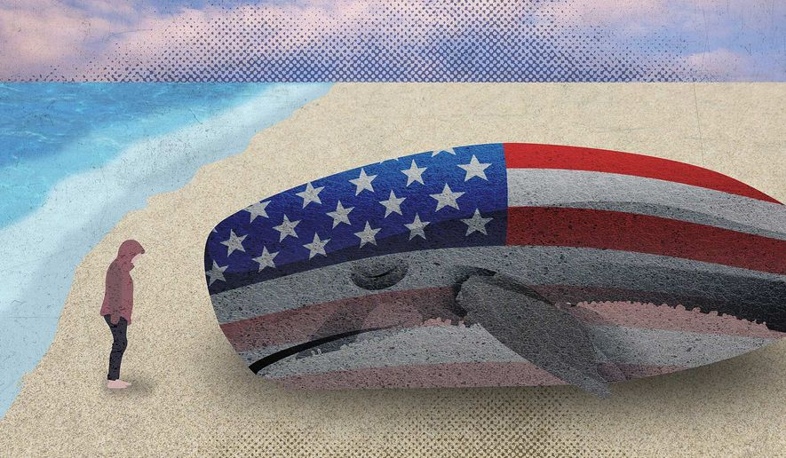 Illustration on the bad situation of America vs China by Greg Groesch/The Washington Times