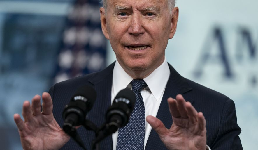 President Joe Biden speaks during an event to mark the start of monthly Child Tax Credit relief payments, in the South Court Auditorium on the White House complex, Thursday, July 15, 2021, in Washington. (AP Photo/Evan Vucci)